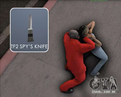TF2 Spy Butterfly Knife para GTA San Andreas