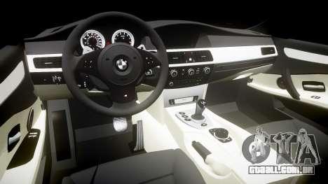 BMW M5 E60 v2.0 Wald rims para GTA 4 vista interior