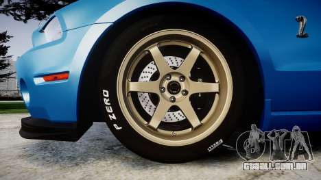 Ford Mustang Shelby GT500 2013 para GTA 4 vista de volta