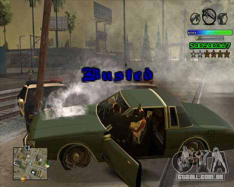 C-HUD Simple para GTA San Andreas quinto tela