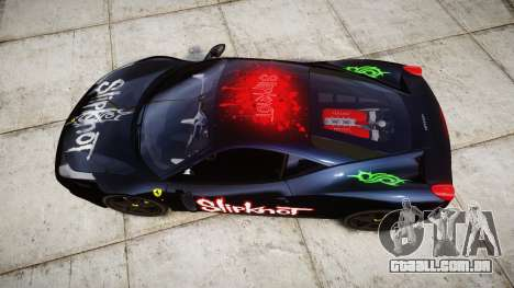 Ferrari 458 Italia 2010 v3.0 Slipknot para GTA 4 vista direita