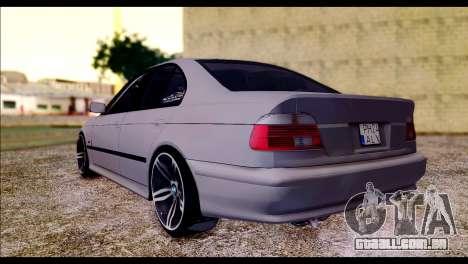 BMW 520d 2000 para GTA San Andreas esquerda vista
