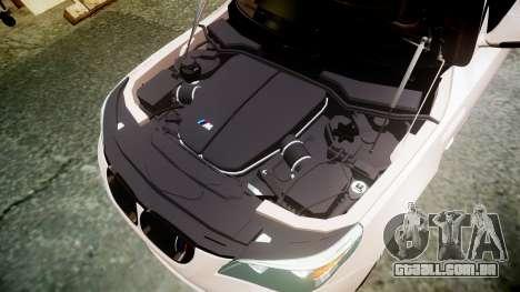 BMW M5 E60 v2.0 Wald rims para GTA 4 vista lateral