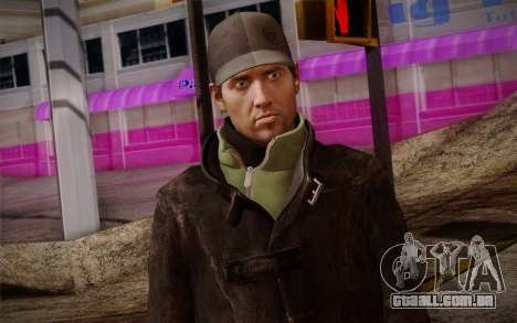 Aiden Pearce from Watch Dogs v8 para GTA San Andreas terceira tela