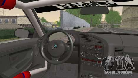 BMW M3 E36 Bridgestone v3 para GTA San Andreas traseira esquerda vista