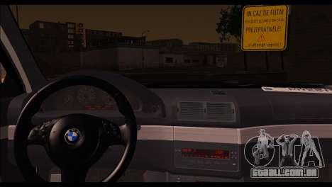 BMW 520d 2000 para GTA San Andreas traseira esquerda vista