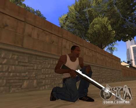 White Chrome Gun Pack para GTA San Andreas sexta tela