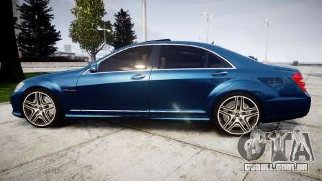 Mercedes-Benz S65 W221 AMG v2.0 rims2 para GTA 4 esquerda vista