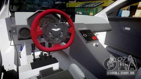 Aston Martin V12 Vantage GT3 2012 para GTA 4 vista interior