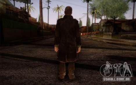 Aiden Pearce from Watch Dogs v8 para GTA San Andreas segunda tela