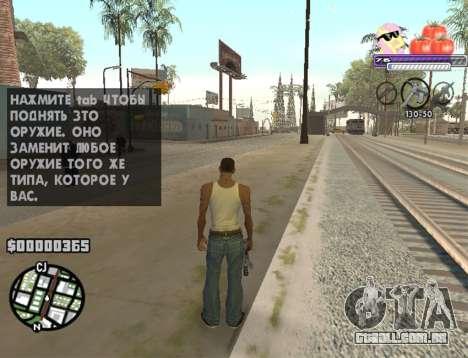 C-HUD Pony and Pomidors para GTA San Andreas segunda tela