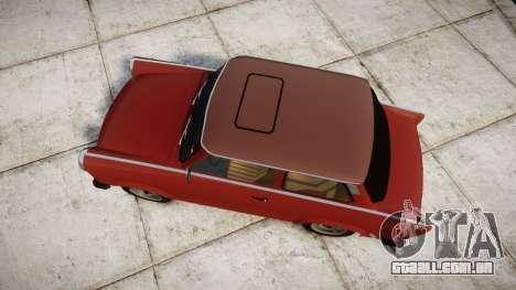 Trabant 601 deluxe 1981 para GTA 4 vista direita