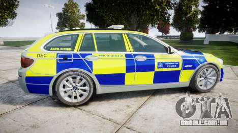BMW 525d F11 2014 Police [ELS] para GTA 4 esquerda vista