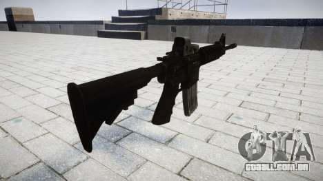 Tática rifle de assalto M4 Black Edition para GTA 4 segundo screenshot