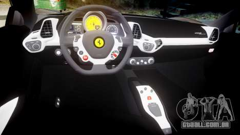 Ferrari 458 Italia 2010 v3.0 Slipknot para GTA 4 vista interior