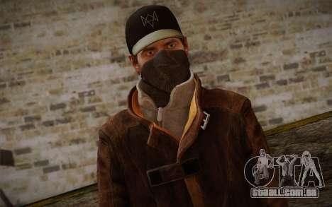 Aiden Pearce from Watch Dogs v6 para GTA San Andreas terceira tela