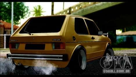 Volkswagen Golf Mk1 para GTA San Andreas esquerda vista