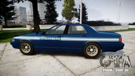 GTA V Vapid Police Cruiser Gendarmerie1 para GTA 4 esquerda vista