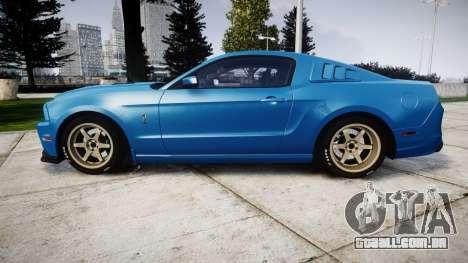 Ford Mustang Shelby GT500 2013 para GTA 4 esquerda vista