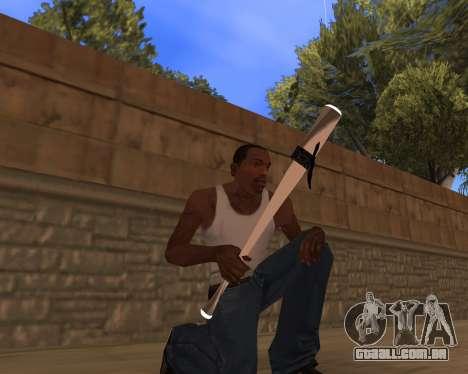 White Chrome Gun Pack para GTA San Andreas terceira tela