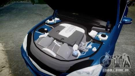 Mercedes-Benz S65 W221 AMG v2.0 rims2 para GTA 4 vista superior