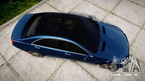 Mercedes-Benz S65 W221 AMG v2.0 rims2 para GTA 4 vista direita