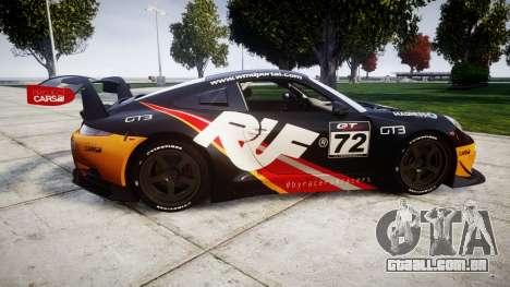 RUF RGT-8 GT3 [RIV] RUF para GTA 4 esquerda vista