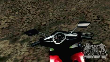 Jupiter Mx 2013 para GTA San Andreas traseira esquerda vista