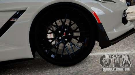 Chevrolet Corvette Z06 2015 para GTA 4 traseira esquerda vista
