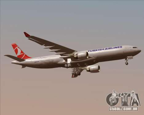 Airbus A330-300 Turkish Airlines para GTA San Andreas vista direita