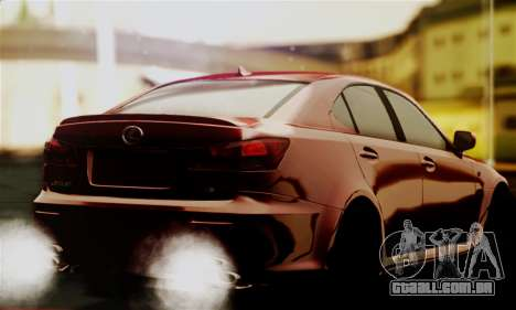 Lexus IS F para GTA San Andreas esquerda vista