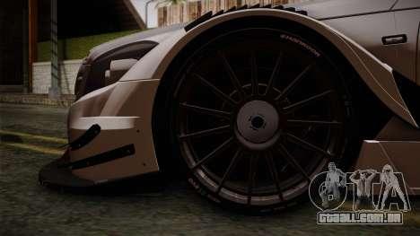Mercedes-Benz C-Coupe AMG DTM para GTA San Andreas traseira esquerda vista