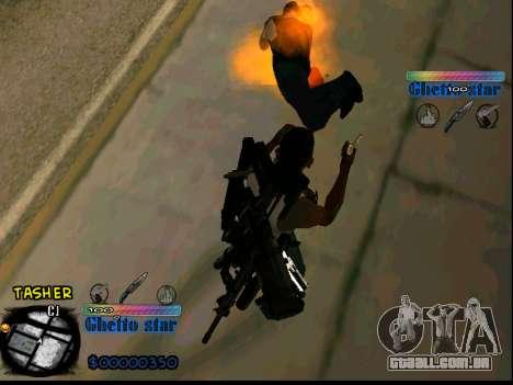 C-HUD Ghetto Star para GTA San Andreas por diante tela