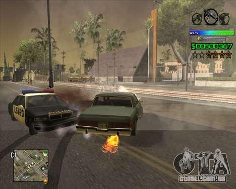 C-HUD Simple para GTA San Andreas por diante tela