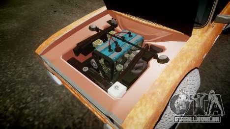 Ford Escort Mk1 Rust Rod v2.0 para GTA 4 vista interior