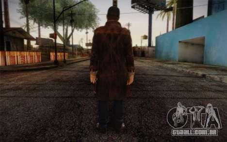 Aiden Pearce from Watch Dogs v6 para GTA San Andreas segunda tela