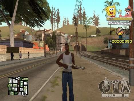 C-HUD Sponge Bob para GTA San Andreas