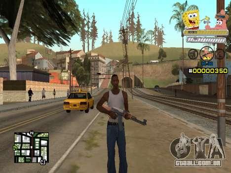 C-HUD Sponge Bob para GTA San Andreas segunda tela