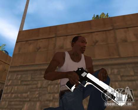 White Chrome Gun Pack para GTA San Andreas segunda tela
