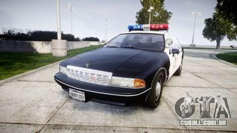 Chevrolet Caprice 1991 LAPD [ELS] Patrol para GTA 4