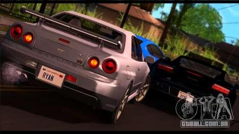 Forza Prata ENB por meio do PC para GTA San Andreas segunda tela