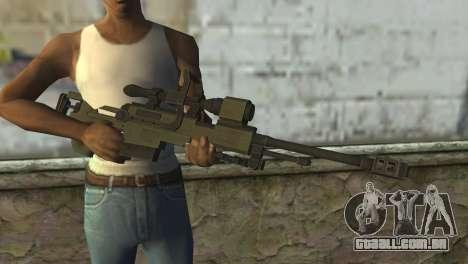 Piers Nivans Rifle from Resident Evil 6 para GTA San Andreas terceira tela