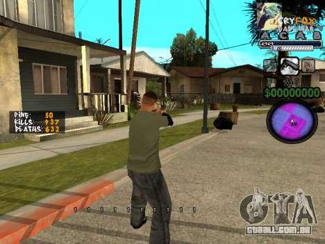 C-HUD. Com. E. para GTA San Andreas segunda tela