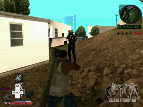 C-HUD Optiwka para GTA San Andreas por diante tela
