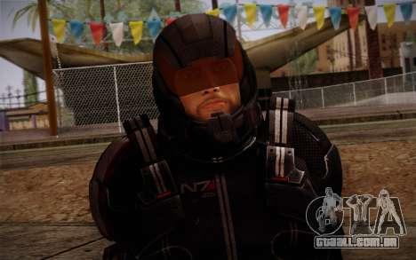 Shepard N7 Defender from Mass Effect 3 para GTA San Andreas terceira tela