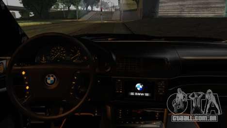 BMW M5 E39 Camouflage para GTA San Andreas traseira esquerda vista