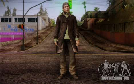 Aiden Pearce from Watch Dogs v8 para GTA San Andreas