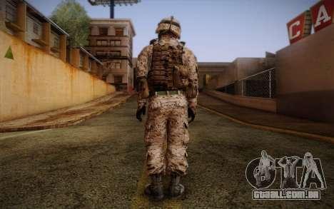 Chaffin from Battlefield 3 para GTA San Andreas segunda tela