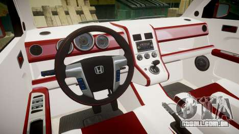 Honda Element 2005 para GTA 4 vista de volta