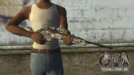 Novo rifle sniper para GTA San Andreas terceira tela